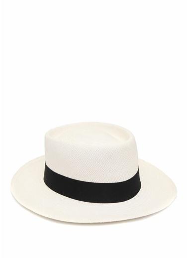 Ecua-Andino Panama Şapka Beyaz